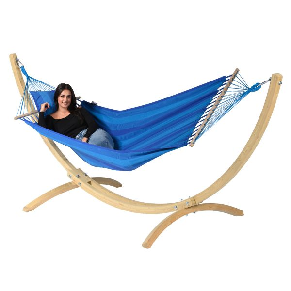 Wood & Relax Blue Amaca 1 posto con supporto