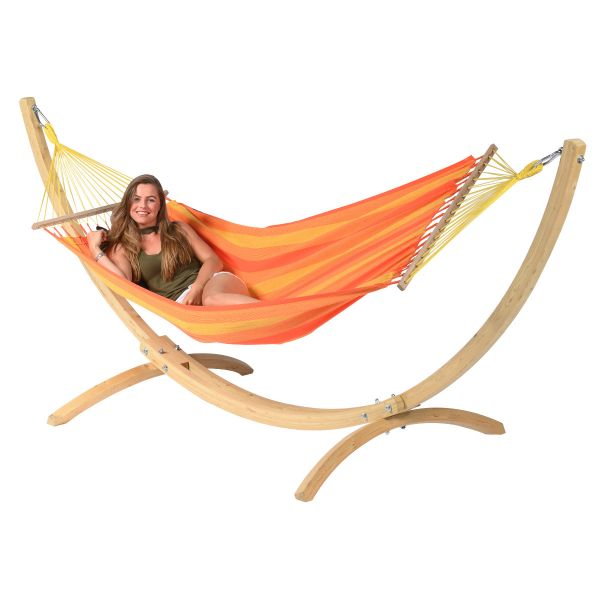 Wood & Relax Orange Amaca 1 posto con supporto