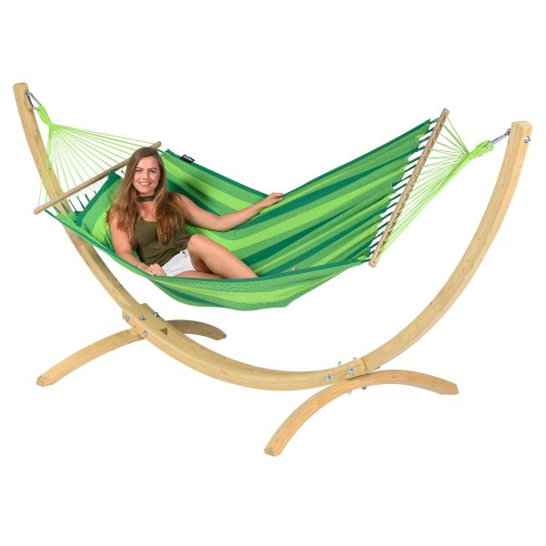 Wood & Relax Green Amaca 1 posto con supporto