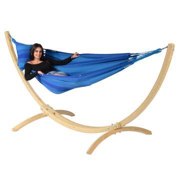 Wood & Dream Blue Amaca 1 posto con supporto