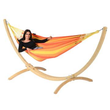 Wood & Dream Orange Amaca 1 posto con supporto