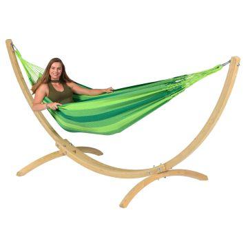 Wood & Dream Green Amaca 1 posto con supporto