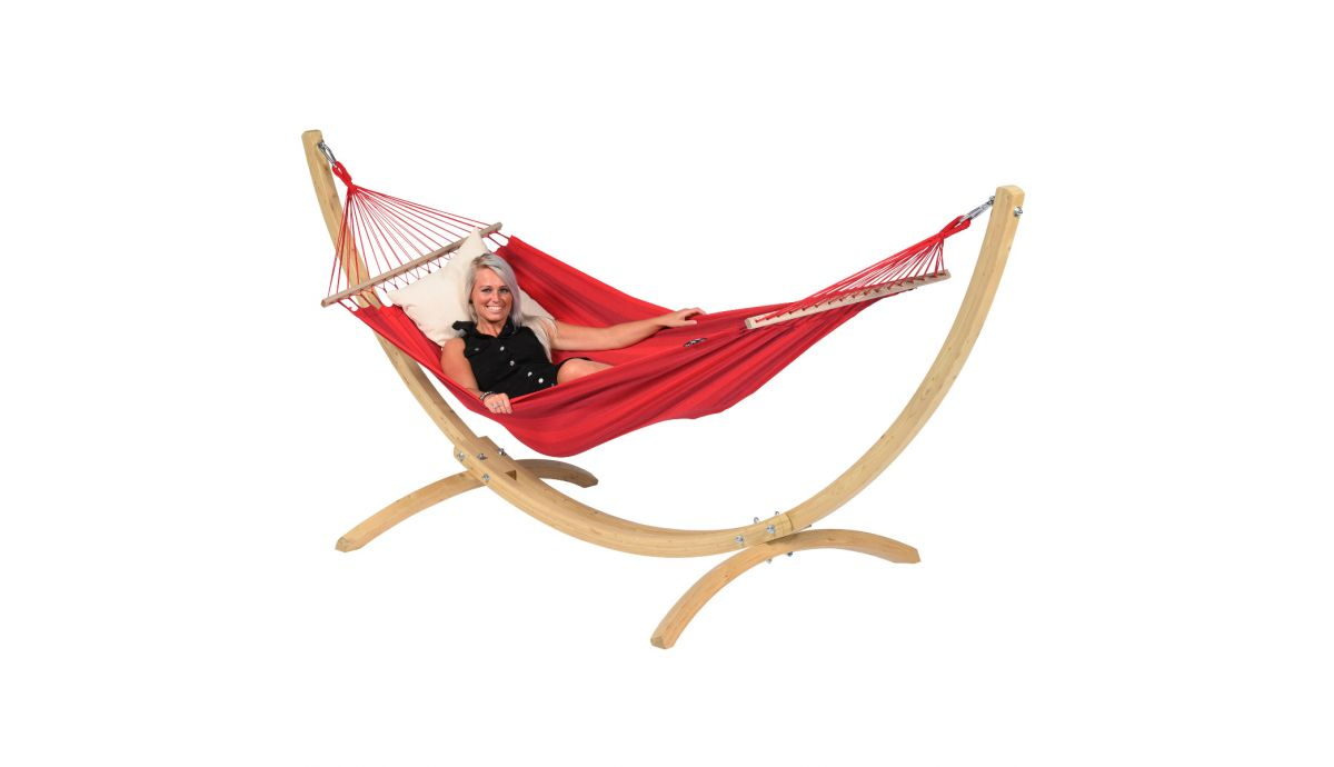 'Wood & Relax' Red Amaca 1 posto con supporto